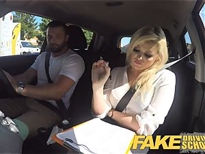 fake Driving school marvelous big-chested posh blond examiner