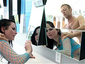 Veruca James and Abella Danger getting romped by Rocco Siffredi