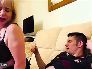 AgedLovE Mature plump Trisha and Sam hard-core