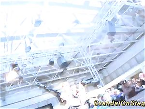 super hot lapdance show on public stage