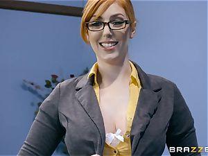 trouser snake thirsty Lauren Phillips penetrated in her ginger muff