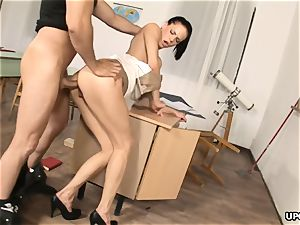 insatiable instructor gets culo screwed by college girl after class