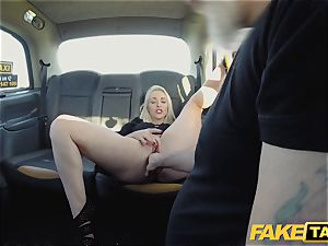 fake cab ash-blonde cougar Victoria Summers nailed in a cab