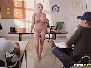 Christie Stevens leaned over and smashed from the rear