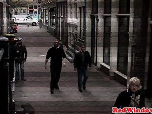 Real dutch hooker handling tourist