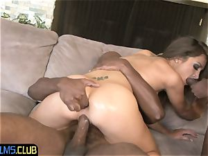 ultra-cute 18yo cutie porked by black dongs