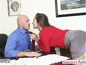 seductive Dani Daniels bends over for a supreme pummel from behind