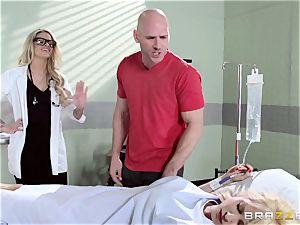 super-steamy medic Jessa Rhodes checks out this ample manhood