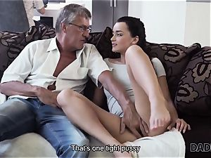 DADDY4K. parent takes part in spontaneous fuckfest with sweetheart Erica dark-hued