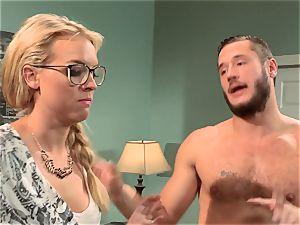 Keira Nicole plumbs her half naked housemate