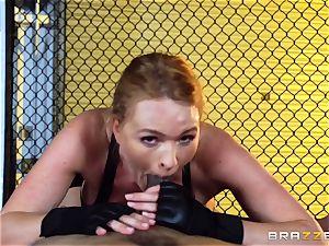 Krissy Lynn gets multiracial fuckin' in the ring