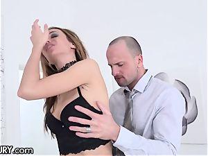 21Sextury training Hazel Dew's Gape to Take yam-sized chisels